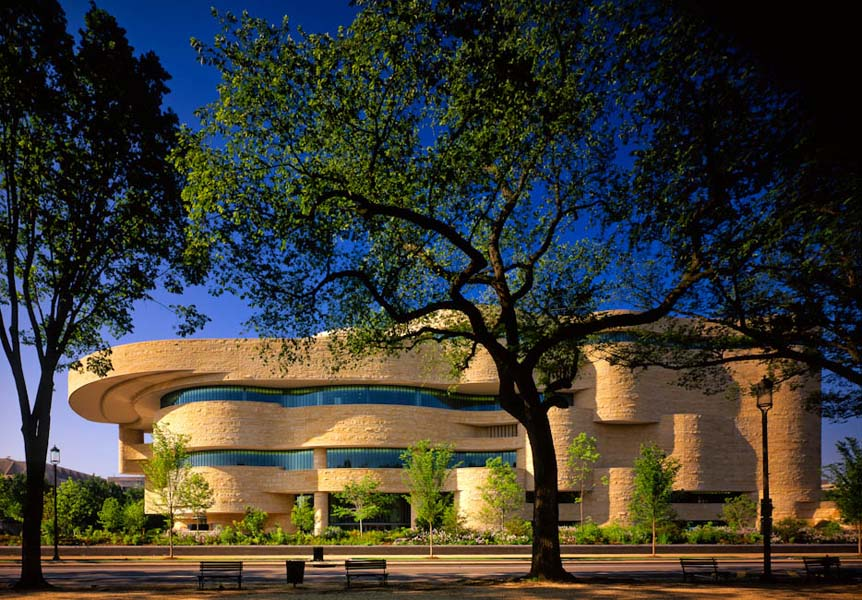 National Museum of the American Indian, Washington, DC - designed by Douglas Cardinal / GBQC Architects / Johnpaul Jones