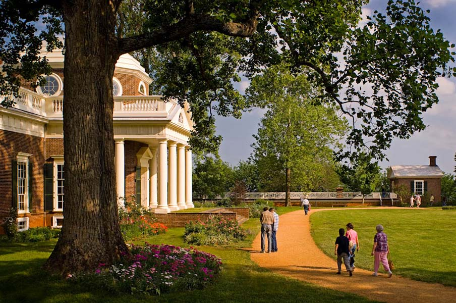 Monticello, Charlottesville, VA - designed by Thomas Jefferson