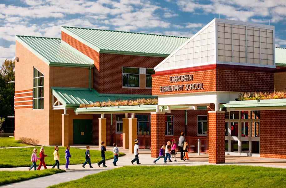 Evergreen Elementary School, California, MD - designed by  TCA Architects