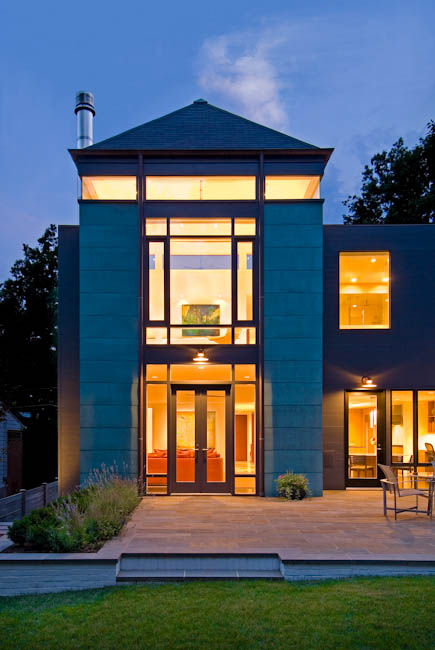 Peterson House, Chevy Chase, MD - designed by  Robert M. Gurney, FAIA