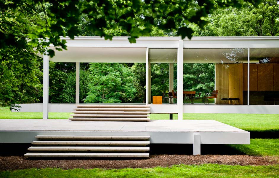Farnsworth House, Plano, IL - designed by Mies van der Rohe